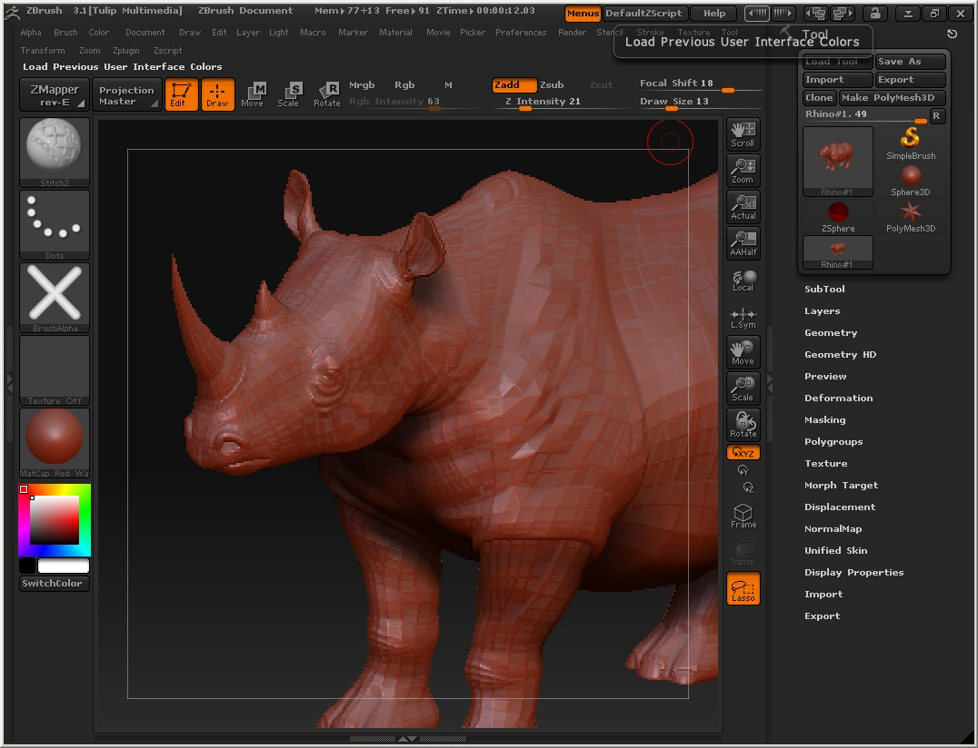 ZBrush - Formerly one of the most problematic import and export commands ever designed